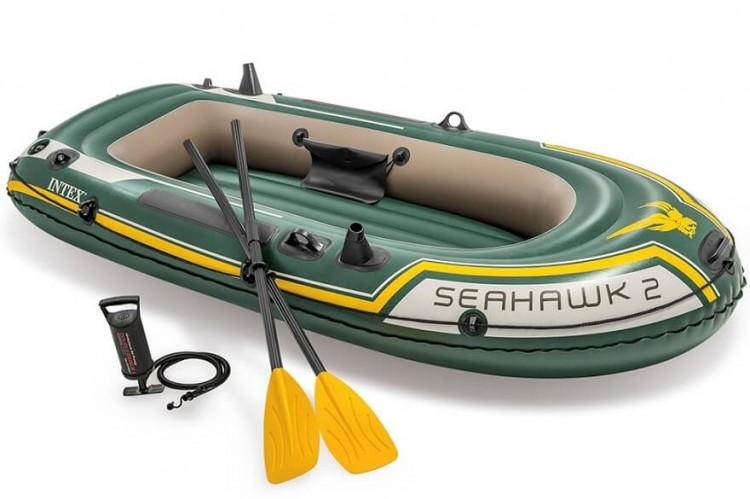 intex seahawk 2 set aufblasbares boot f r 2 personen. Black Bedroom Furniture Sets. Home Design Ideas